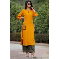 Indian Kurthi Plazzo Set - Rayon kurthi set - 103WA0092