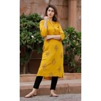 Indian Embroidered Rayon kurti -103WA0029