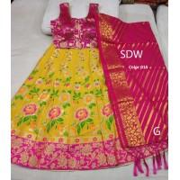 Benarasi brocade silk Lehenga  011-015
