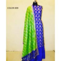 Pure Benarasi Katan Silk Un stitched Suit 001-010
