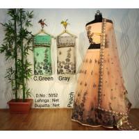 Net Embroidered Lehenga-PF113-5052