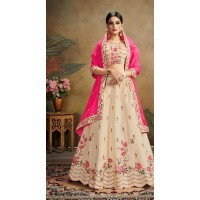Pure Silk indian Lehenga with embroidery -5048