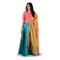 Pure Silk  Embroidered Lehenga -113WA033