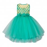 GIRLS CHINESE LACE DRESS -MY13
