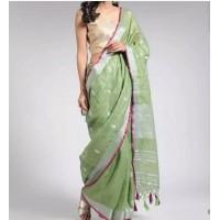 Linen Embroidered Saree - N115WA0029
