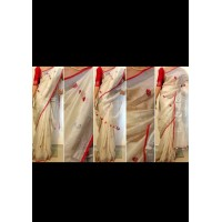 Linen by Linen Embroidered  Saree - N115WA0039
