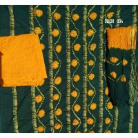 Bandhej Salwar Suit with Duppatta - Unstitched - BBB133