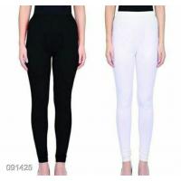 Leggings - Black/White -Plain color Leggings - Stretchable Leggings -Combo offer  !! Vb007