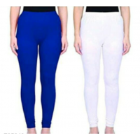 Leggings - Blue/white -Plain color Leggings - Stretchable Leggings -Combo offer  !! Vb007g
