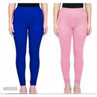 Leggings - Blue/Pink -Plain color Leggings - Stretchable Leggings -Combo offer  !! Vb007i