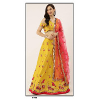 Satin Silk  Lehenga choli embroidered  set - PL5308 - Party wear Lehengas