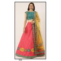 Satin Silk  Lehenga choli embroidered  set - PL5312 - Party wear Lehengas