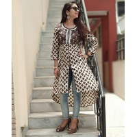 Trendy  cotton kurti   with embroidery