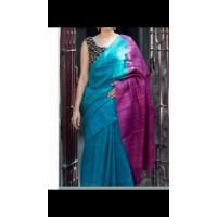 Silk Saree in Tusser - 64WA0186