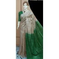 Tusser silk saree  - 64WA0195
