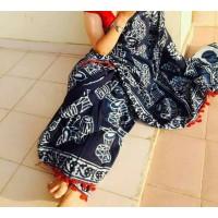 Beautiful Printed Cotton Malmal Saree