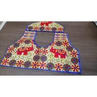 Un stitched blouse material Kutch handwork