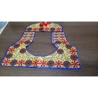 Un Stitched  blouse material in  Beautiful Kutch hand work