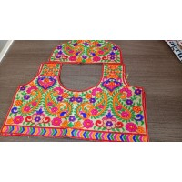 Un stitched blouse material  Beautiful Kutch hand work