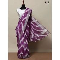 Shibori Dyed Linen Sarees  19 Combinations
