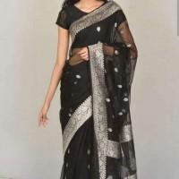 Benarasi Pure Chiffon Saree -Black