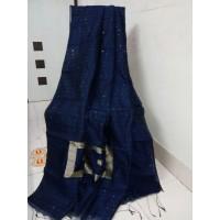 Sequence work in  silk cotton saree - 112