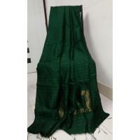 Sequence work on silk cotton saree -127