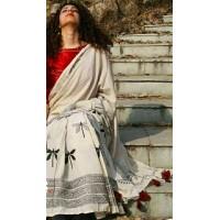 Beautiful Block Print  Cotton mul mul saree  -0002