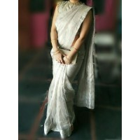 Andhra Uppada Tissue Saree - silver-0047