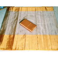 Uppada Tissue Saree  -offwhite /yellow